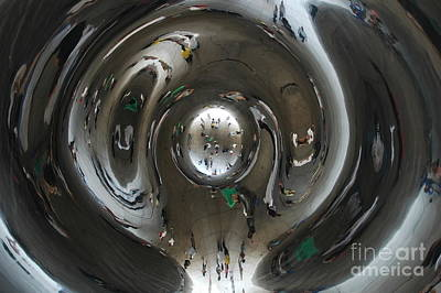Mirror Art Photograph - Inside The Bean by Miguel Celis