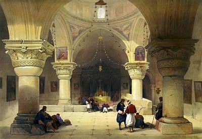 Holyland Digital Art - Inside The Church Of The Holy Sepulchre In Jerusalem by Munir Alawi