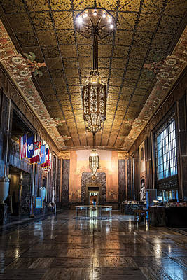 Andy Crawford Photograph - Inside The Louisiana State Capitol by Andy Crawford