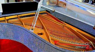 Inside The Rhinestone Piano Print by Mary Deal