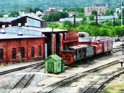 Yards Photograph - Inside The Train Yard by Susan Savad