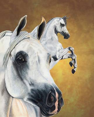 Horses Drawing - Inspiration by Kristen Wesch