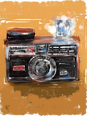 Camera Mixed Media - Instamatic by Russell Pierce