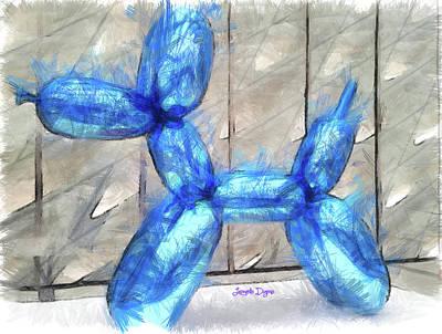 Pencil Painting - Insufflated Dog by Leonardo Digenio