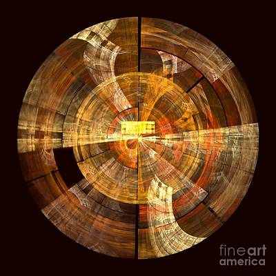 Orange Abstract Art Digital Art - Integrity by Oni H