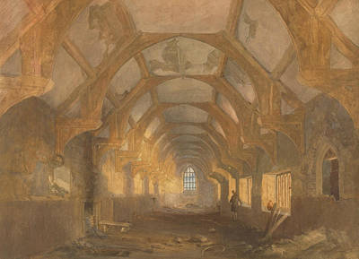 Dormitories Painting - Interior Of A Dormitory Of The Ipswich Blackfriars At The End Of Its Period Of Occupation By Ipswich by John Sell Cotman