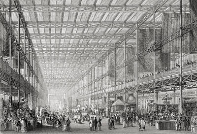 Cast Iron Drawing - Interior Of The Great Exhibition Of The by Vintage Design Pics
