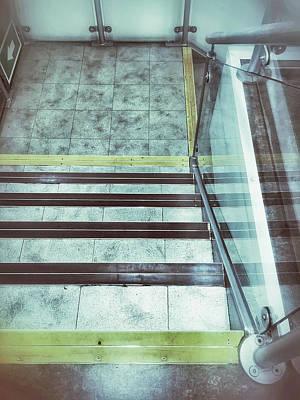 Interior Stone Stairs Print by Tom Gowanlock