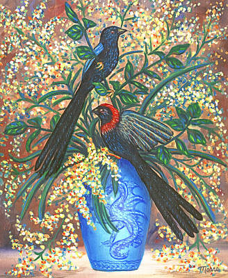 Black Bird Painting - Interlude Two by Linda Mears
