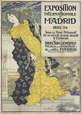 International Exhibition In Madrid Print by Celestial Images