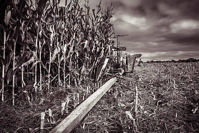 Country Photograph - International Harveter Corn Binder by Chris Bordeleau
