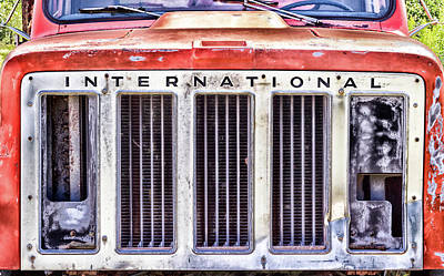 International Truck Grill Print by Eclectic Art Photos