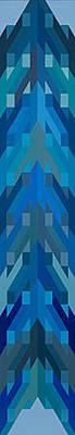 Intersessione In Azzurro Original by George Sanen
