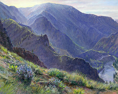 Salmon River Idaho Painting - Intimate Grandeur by Steve Spencer