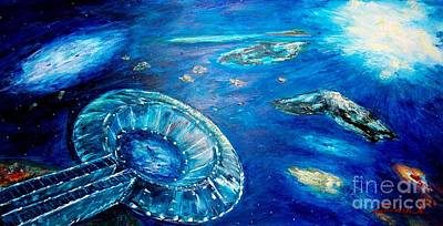 Painting - Into The Blue  by Mary Sedici
