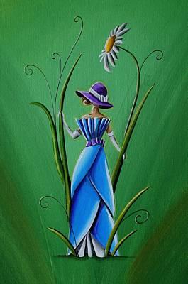 Into The Garden Print by Cindy Thornton