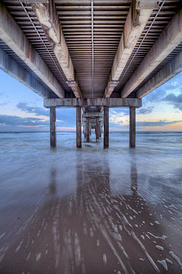 Into The Gulf At Orange Beach Print by JC Findley