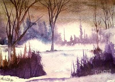 Wet Into Wet Watercolor Painting - Into The Mist by Eunice Miller