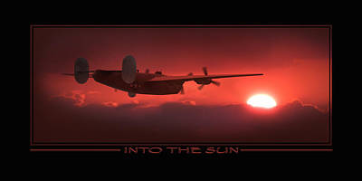 Split Digital Art - Into The Sun Show Print by Mike McGlothlen