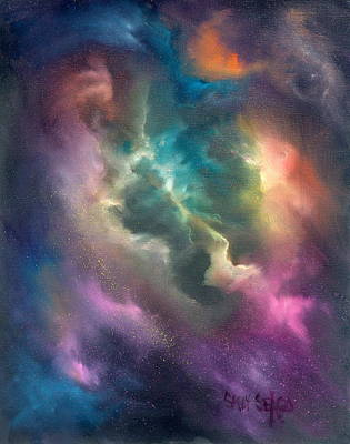 Celestial Painting - Into The Unknown by Sally Seago