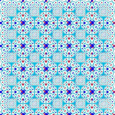 Algorithmic Digital Art - Intricate Geometric Pattern by Gaspar Avila