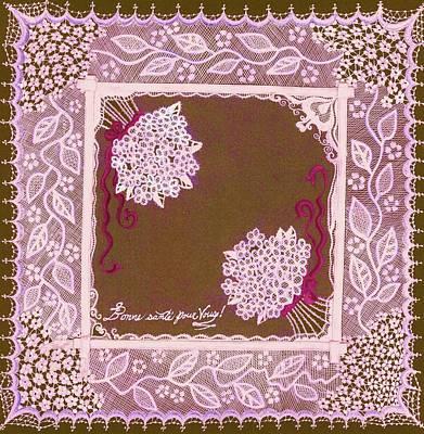 Intricate Lace Hankie Print by Jenny Elaine