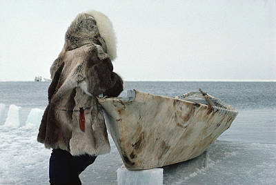 Flip Nicklin Photograph - Inuit Hunter In Traditional Clothes by Flip Nicklin