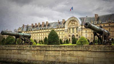 Paris France Photograph - Invalides And Cannon Paris by Joan Carroll