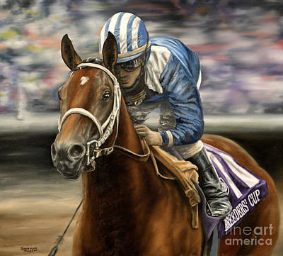 Horse Racing Painting - Invasor by Thomas Allen Pauly