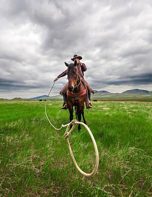 Working Cowboy Photograph - Invisible Calf by Todd Klassy