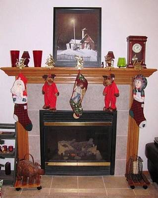 Photograph - Iowa Christmas Hearth by Jerry Browning
