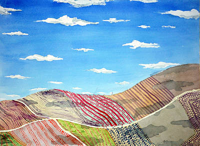 Painting - Iowa Fields  Iowa Clouds by Jame Hayes