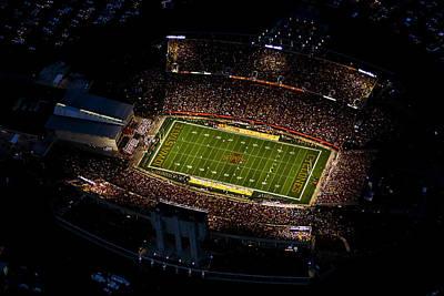 Iowa State Jack Trice Stadium Aerial  Print by Iowa State