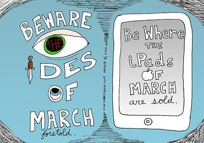 iPads and Ides of March cartoon Original by Yasha Harari