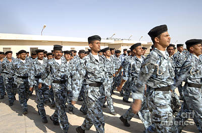 Foreign Military Photograph - Iraqi Police Cadets Being Trained by Andrew Chittock