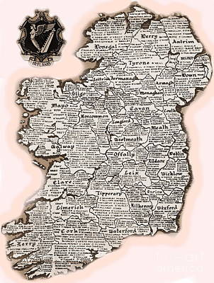 Mixed Media - Irelands Counties by Val Byrne