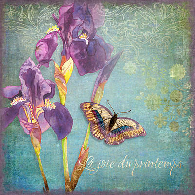 Irises Mixed Media - Iris Dreams by Audrey Jeanne Roberts