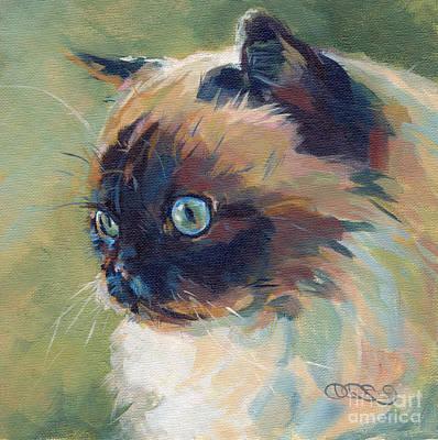 Spice Painting - Iris II by Kimberly Santini