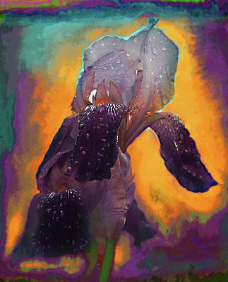 Abstract Realism Digital Art - Iris In Purple by Jeff Burgess