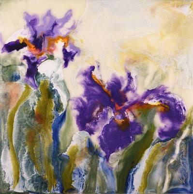 Iris Painting - Irises by Donna Tuten