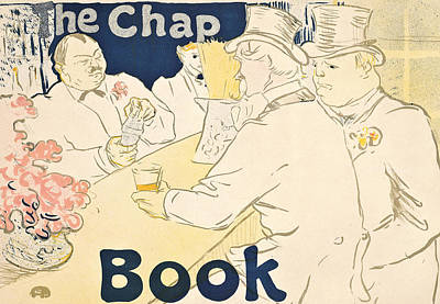 Old Friends Drawing - Irish And American Bar by Henri de Toulouse-Lautrec