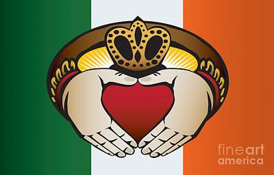 Irish Claddagh Art Print by Joe Barsin