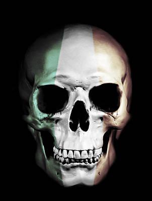 Horror Mixed Media - Irish Skull by Nicklas Gustafsson