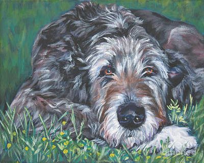 Puppies Painting - Irish Wolfhound by Lee Ann Shepard