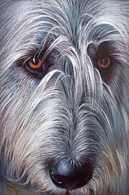 Irish Wolfhound Print by Elena Kolotusha