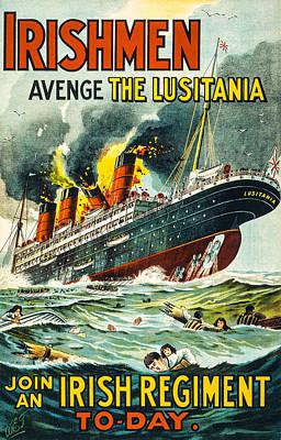 Irishman Avenge The Lusitiania Print by David Letts