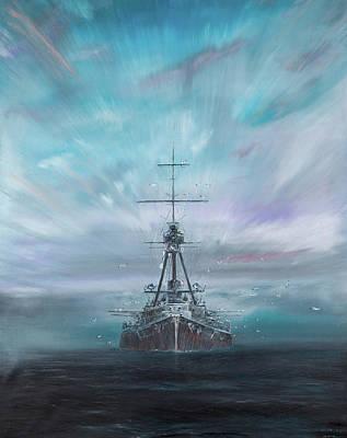 World War One Painting - Iron Dog  Derfflinger  by Vincent Alexander Booth