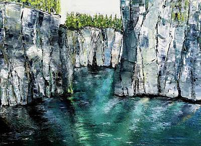 National Park Painting - Ironbound 3 by Julia S Powell