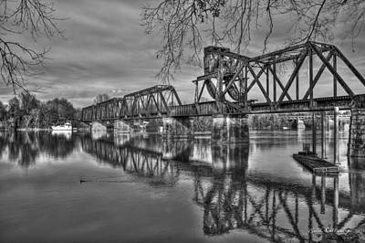 Ironman Photograph - Ironman Trestle 2 6th Street Bridge Augusta Georgia by Reid Callaway