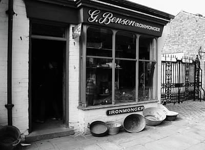 Ironmongers Shop Monochrome Print by Jeff Townsend